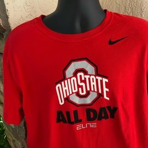 Nike Ohio State Buckeyes All Day Red Shirt XL